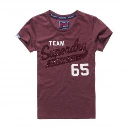 T-shirt Superdry Sequin Team Comets Burgundy Marl