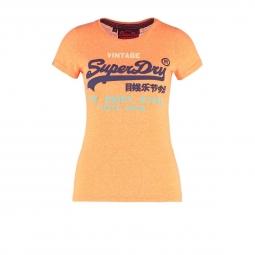 T-shirt Superdry Shop Tri Popsicle Peach Snwoy