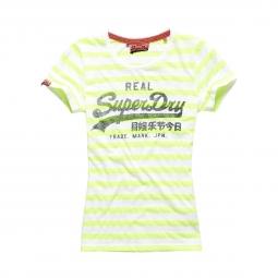 T-shirt Superdry Vintage Logo Stripe Lime Stripe