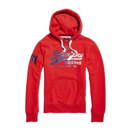Sweat superdry vintage logo 1st hood indiana red xl