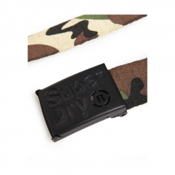 Ceinture Superdry Single Solo Belt Khaki Camo