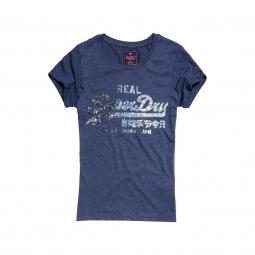 T-shirt Superdry Vintage Logo Sequin Entry Blue