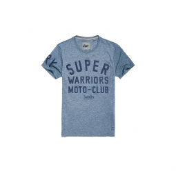 T shirt superdry warriors biker twilight blue grit s