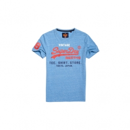 T shirt superdry shop tri horizon blue marl s