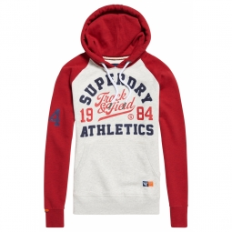 Sweat superdry track et field raglan ice red xl