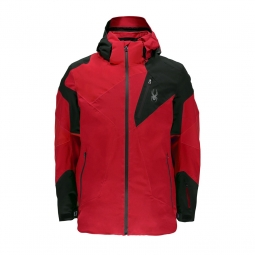 Veste de ski spyder leader red black red s