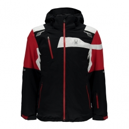 Veste de ski spyder titan black red white xl