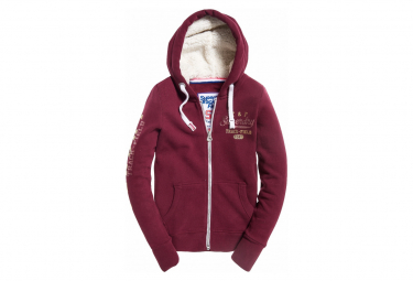 Superdry Track Et Burgundy Borg Sweat Field nkO0wP