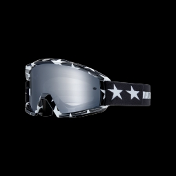 Masque de vtt fox main goggle stripe black white