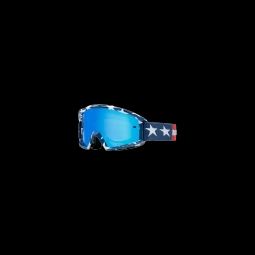 Masque de vtt fox main goggle stripe white red blue