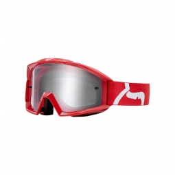 Masque de vtt fox youth main goggle race red