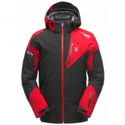 Veste de ski spyder leader gtx black red black xl