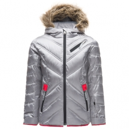 Veste de ski spyder girl s leader atlas synthetic slv hib 8 ans