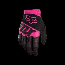 Gants de vtt fox dirtpaw race glove black pink