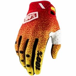 Gants 100 ridelfit red yellow xl
