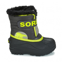 Après-ski Sorel Childrens Snow Commander Dark Grey