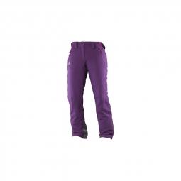 Pantalon De Ski Salomon Iceglory Cosmic Purple
