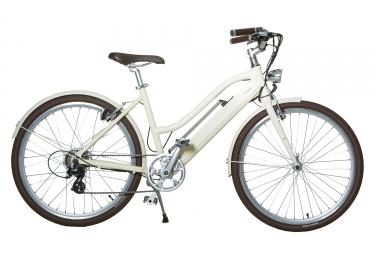 Vélo de Ville Electrique Femme Lutece Libby Miller 26´´ Crème de Beige