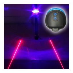 Eclairage arriere bleu pour velo avec laser
