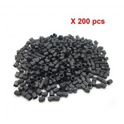 Lot de 200 bouchons de valve schrader noir