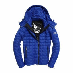 Doudoune superdry box quilt fuji hooded royal s