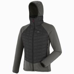 Doudoune millet hybrid needles hoodie grey l