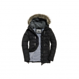 Doudoune Superdry Tall Toggle Puffle Black