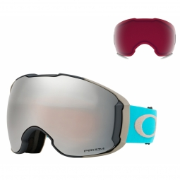 Masque ski oakley airbrake xl moonrock sea prizm black et rose