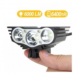 B power 600 feu velo avant haute luminosite avec batterie