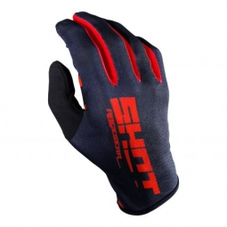 Gants long shot bmx rogue black red m