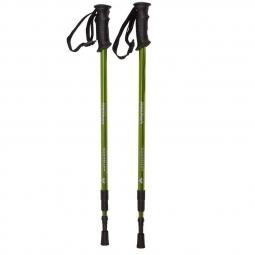 Paire de batons de trekking alu tk1 columbus verts