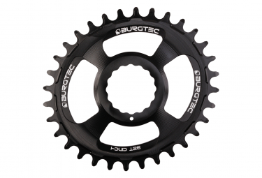 Burgtec Oval Chainring Thick Thin Black
