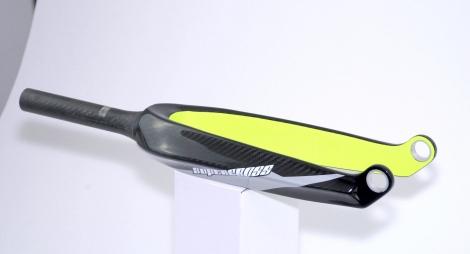 Fourche supercross carbon blk hi vis yellow