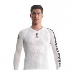 Sous vetement manches longues assos ls skinfoil summer evo7 holywhite m