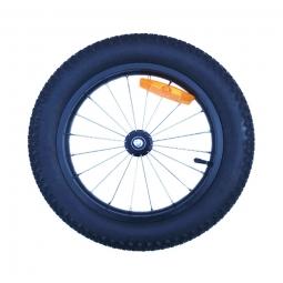 Roue rayonnees avec pneus 16 fat bike pour remorque velo