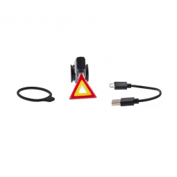 Lampe arriere usb warning pour fixation sur tube de selle