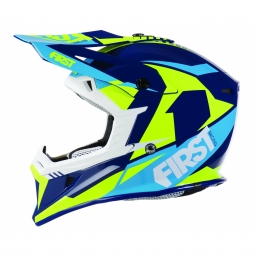 Casque vtt moto first racing t3 bleu m
