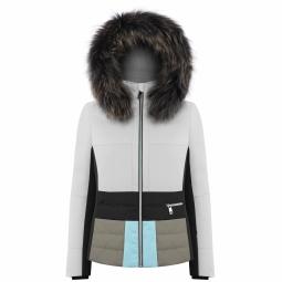 Veste de ski poivre blanc wo b ski jacket white xs