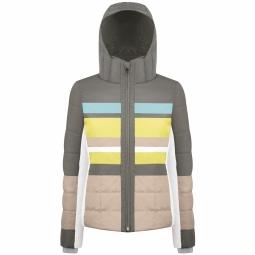 Veste de ski poivre blanc wo ski jacket khaki grey s