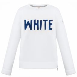 Pull poivre blanc wo round neck sweater white s