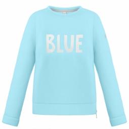 Pull poivre blanc wo round neck sweater dream blue s