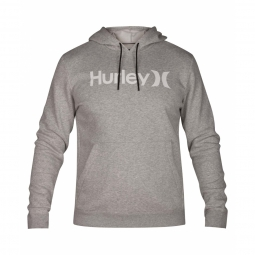Sweat capuche hurley surf check one et only dark grey s