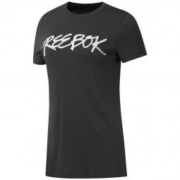 T-shirt femme Reebok OPP Script
