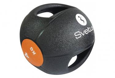 Medecine ball a poignee sveltus noir poids au choix