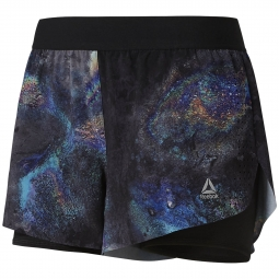 Short femme Reebok Epic 2in1 Oil Slick