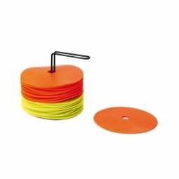 Kit de 24 disques avec support 12 jaunes 12 orange