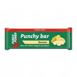 Présentoir de 40 barres punchy bar Punch Power banane – 30g