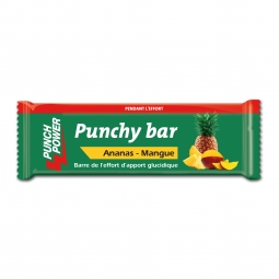 Présentoir de 40 barres punchy bar Punch Power ananas/mangue – 30g