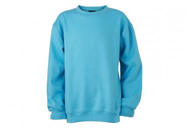 James et Nicholson Sweat-shirt col rond - JN040 - bleu ciel - mixte homme femme