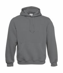 Betc sweat shirt a capuche mixte homme ou femme wu620 gris acier m